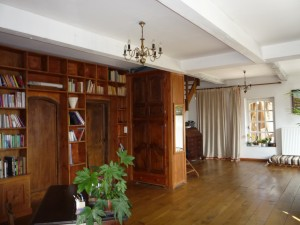 Upstairs library