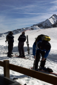 Police on the piste