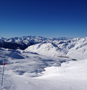 Skiing yesterday in the Pyrenees
